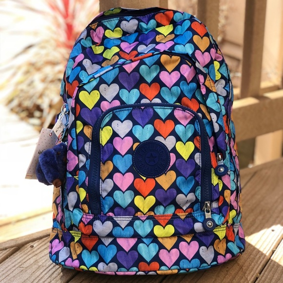 4480cda06c Kipling heart shape large backpack back to school